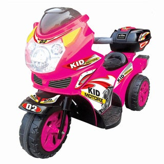 Kid Motorz Pink Ride-On Motorcycle