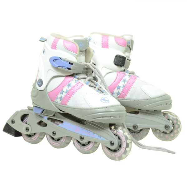 Ultra Wheels Transformer Kids Adjustable Pink/ White In-line Skates