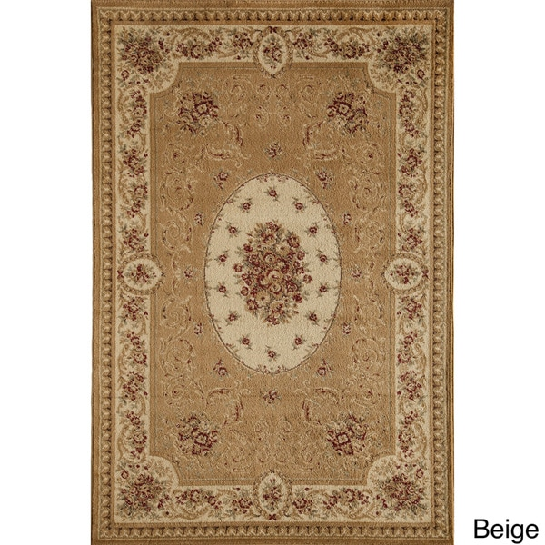 Florence 7724 Cream/ Multi Traditional Floral Area Rug (5'3 x 7'10)