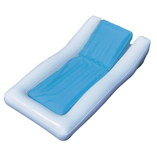 Sunsoft 71-inch White/ Blue Hybrid Pool Lounger 12677211
