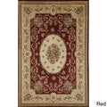Sorrento Medallion Cream Traditional Floral Area Rug (6'7 x 9'6)
