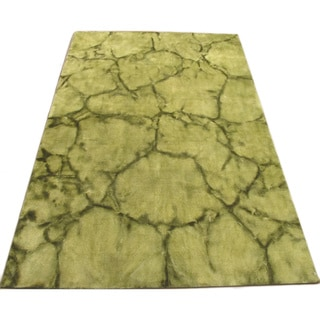 Handmade Dip Dyed Green Wool Area Rug (8' x 10')