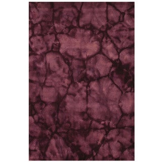 Handmade Wool Purple Dip Dyed Rug (5' x 8')
