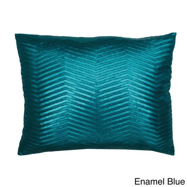 14x18-inch Jolie Chevron Matte Sequin Throw Pillow