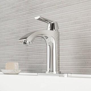 Vigo Single-lever Modern Chrome Faucet with Deck Plate