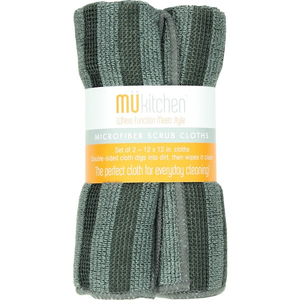 MUkitchen Grey Scrub Cloths (Set of 2)