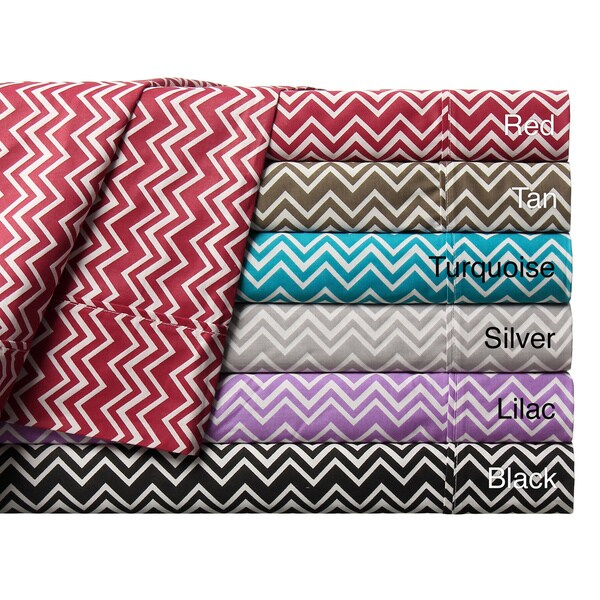 Expressions Chevron Pattern 300 Thread Count Cotton Sheet Set