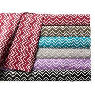 Chevron Printed Cotton Sheet Set