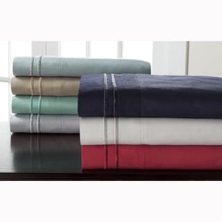 Expressions Hotel Collection Bright Solids Double Merrow Sheet Set