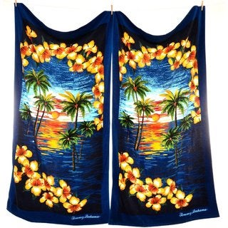 Tommy Bahama Island Vignette Beach Towel (Set of 2)