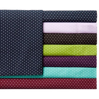 Expressions Grand Polka-dot and Solid Colored Easy Care Sheet Set