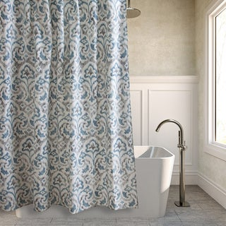 Tommy Bahama Cape Verde Smoke Cotton Shower Curtain