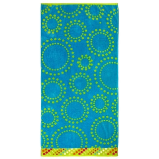 Celebration Velour Circle Dots Beach Towel (Set of 2)