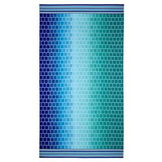 Celebration Velour Shades of Blue Tile Beach Towel (Set of 2)