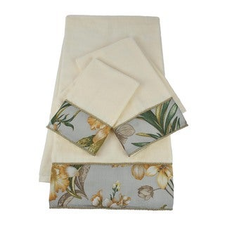 Sherry Kline Villa Flora Embellished 3-piece Towel Set