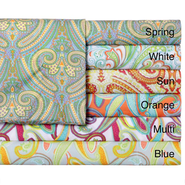 Expressions Paisley Print Easy Care Sheet Set (As Is Item)