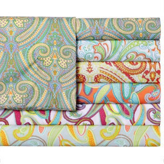 Paisley Printed Easy Care Sheet Set