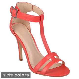 Journee Collection Women's 'Enzo-43' Strappy T-strap Heels