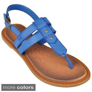 Journee Collection Women's 'Impart-01' Sling-back T-strap Sandals