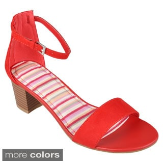 Journee Collection Women's 'Leroy-01' Open Toe Ankle Strap Sandals