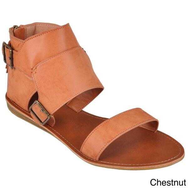 Hailey Jeans Co. Women's 'Mason-47' Hooded Back Flat Sandals