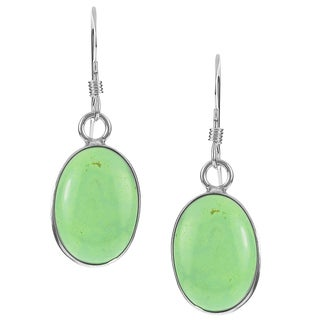 Riverbend Sterling Silver Gaspeite Drop Earrings