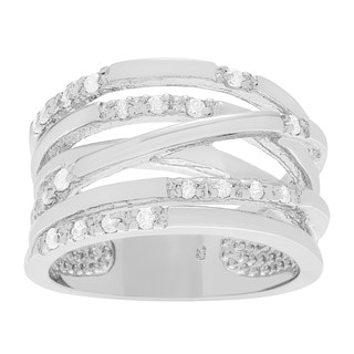 Journee Collection Sterling Silver Cubic Zirconia Ring