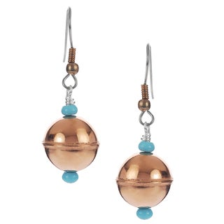 Riverbend Sterling Silver Turquoise Handcrafted Drop Earrings