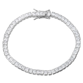 Tressa Collection Sterling Silver Cubic Zirconia Tennis Bracelet