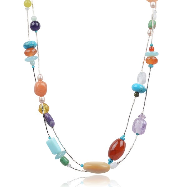 Riverbend Sterling Silver Multi-stone Handcrafted Necklace
