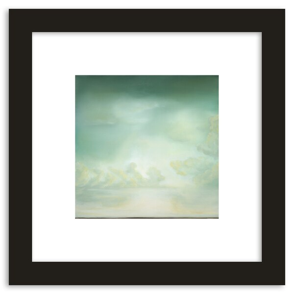 Chartreuse Skies Framed Paper Art