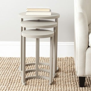 Safavieh Sawyer Light Grey Stacking Table (Set of 3)