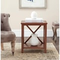 Safavieh Candence Chocolate Brown Cross Back End Table