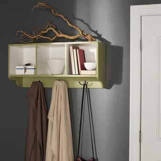 Safavieh Alice Avocado Green/ White Wall Shelf