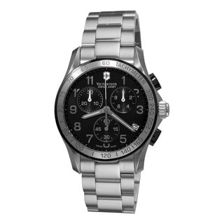 Swiss Army Men's 241403 'Chrono Classic' Black Dial Stainless Steel Quartz Watch