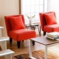 Holly & Martin Purban Red-Orange Slipper Chairs (Set of 2)