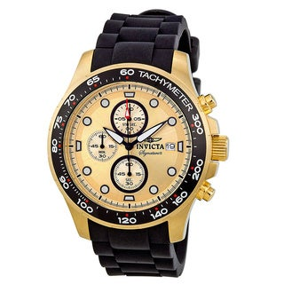 Invicta Men's IN7373 'Signature II' Gold Dial Chronograph Watch