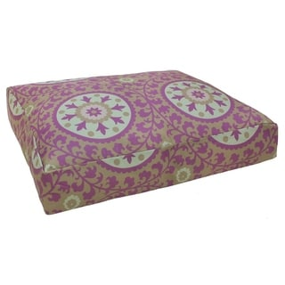 Purple Suzani Printed Dog Bed (India)