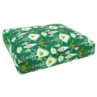 Green Ikat Dog Bed (India)