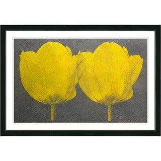 Zhee Singer 'Twin Tulips' Framed Fine Art Print