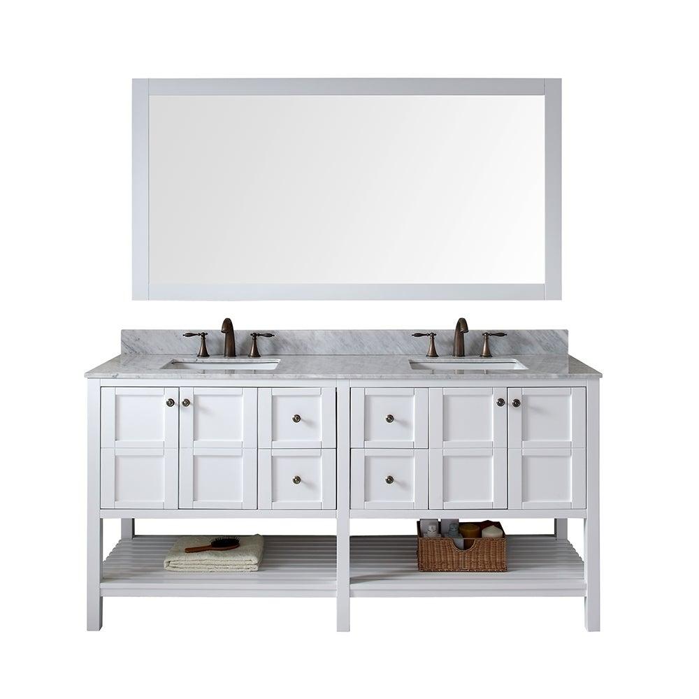 Comcarrera Marble Bathroom Vanity : ... Sink White Vanity with Carrara White Marble Countertop with Backsplash
