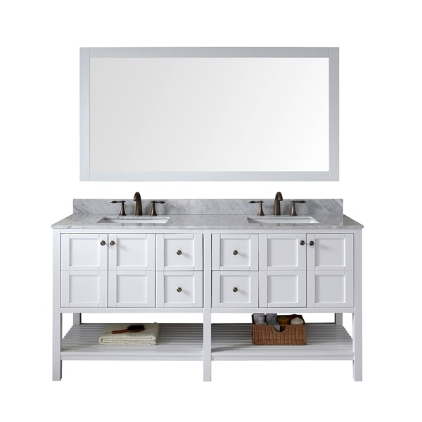 virtu usa winterfell 72 inch double sink white vanity with carrara