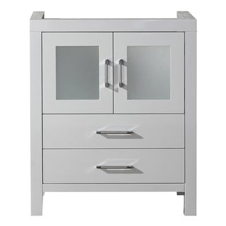 Virtu USA Dior 28-inch White Single Sink Cabinet Only Bathroom Vanity