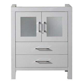 virtu usa dior 28 inch white single sink cabinet only bathroom vanity