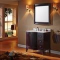 Virtu USA Khaleesi 36 inch Single Sink Espresso Vanity with Carrara White Marble Countertop with Backsplash