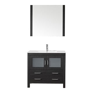Virtu USA Dior 36 inch Single Sink Vanity Set in Zebra Grey