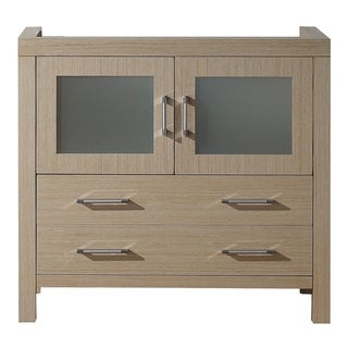 Virtu USA Dior 36-inch Light Oak Single Sink Cabinet Only Bathroom Vanity