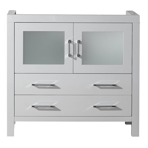 Virtu USA Dior 36 Inch White Single Sink Cabinet Only
