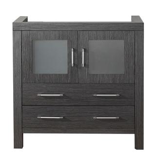 Virtu USA Dior 36-inch Zebra Grey Single Sink Cabinet Only Bathroom Vanity