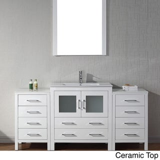 Virtu usa dior 66 inch single sink vanity set in white overstock shopping great deals on for 66 inch bathroom vanity cabinets